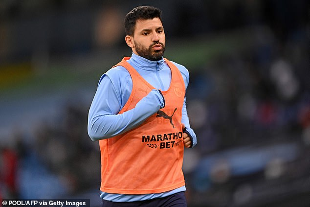Striker Sergio Aguero himself was not invited to leave the substitutes' bench on Sunday