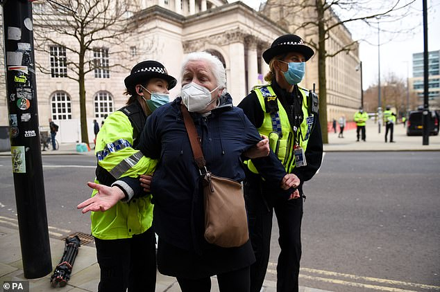 This woman, 65, refused to give police her details and was briefly arrested but released