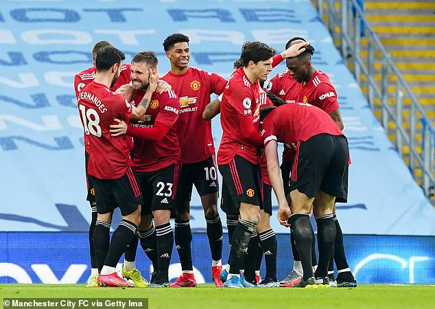 The Red Devils won 2-0 at the Etihad to close the gap on the league leaders to 11 points