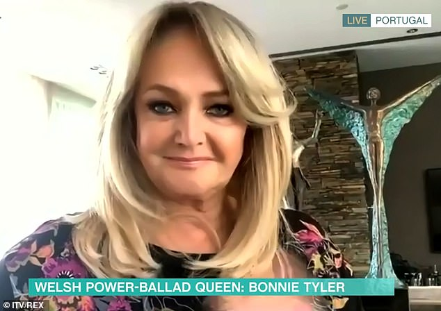Looking good! Bonnie Tyler, 69, has revealed the secret to her age-defying looks - with Botox sessions twice a year - but said she hasn't been able to avail of it since lockdown
