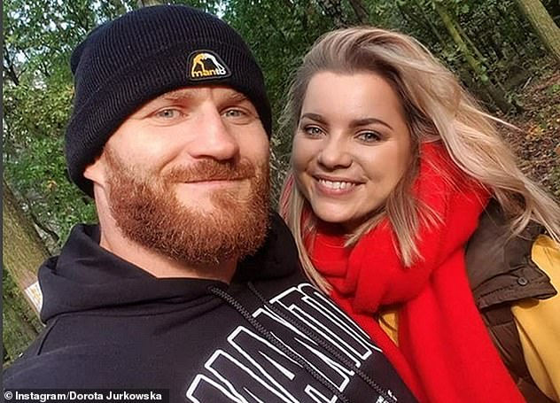 Jan Blachowicz with his fiance Dorota Jurkowska. She said in 2017 she feared he would be cut from the UFC because of a string of losses