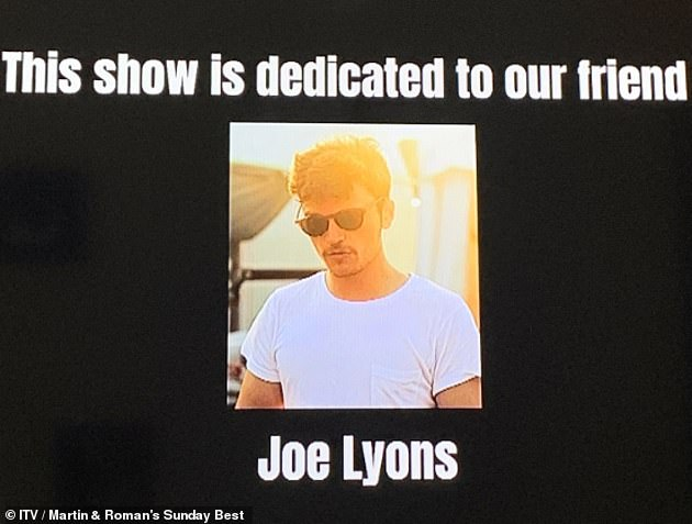 Tribute: After his friend's death, Roman emotionally addressed fans on his show Sunday Best, urging them to 'reach out'. The episode was touchingly dedicated to Joe