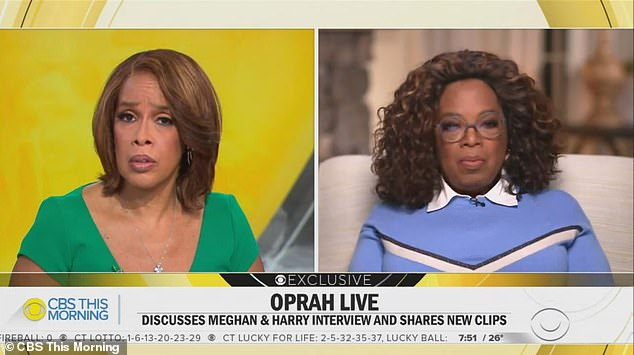 Under wraps: Oprah, 67, refused to name the 'friend' who lent her their home to serve as the location of the interview