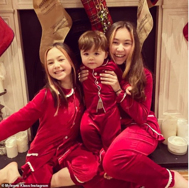 Happy family: The presenter is aproud parent to children Ava, 13, and Hero, nine, with ex Graham Quinn and son Apollo, nineteen months, with fiancé Simon Motson