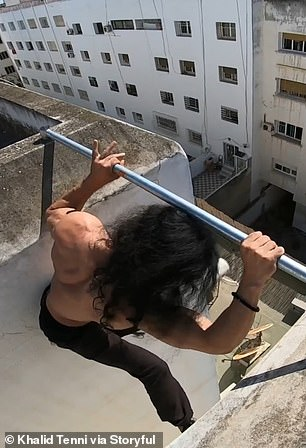 The stuntman has previously said that he trains up to eight hours a day