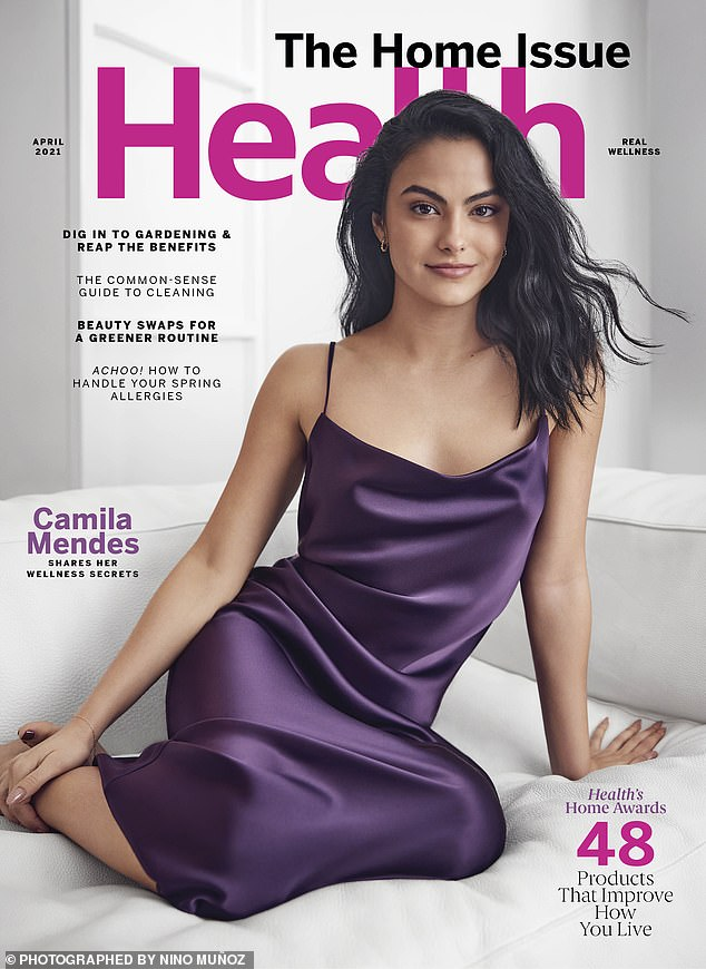 Camila covers the April 12 issue of Health on newsstands March 12