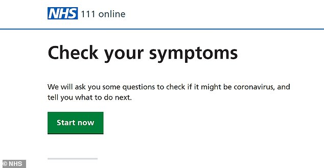 The UK's 111 COVID-19 Symptom Checker (pictured) frequently triaged possible severe Covid-19 and bacterial pneumonia to stay at home with no follow-up and is likely to have delayed treatment for sepsis, severe Covid-19 and neutropaenic sepsis, the investigation found