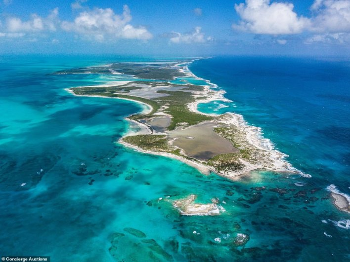 According to Concierge Auctions, the possibilities are endless on the island that they say is a 'perfect blank canvas of rolling hills, lignum vitae trees, and calm warm waters'