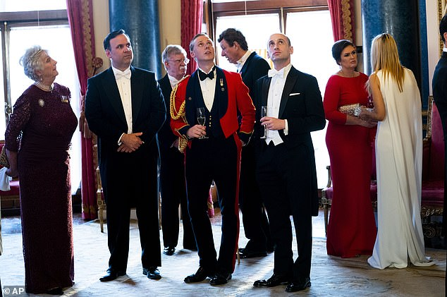 Stephen Miller (third from right) said he met members of the royal family during former President Donald Trump's state visit to the United Kingdom in June 2019
