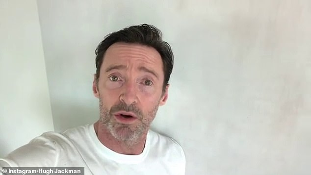 Impressed: Hugh Jackman praised Meghan Markle and Prince Harry's 'courageous' interview with Oprah Winfrey in a heartfelt Instagram poston Monday