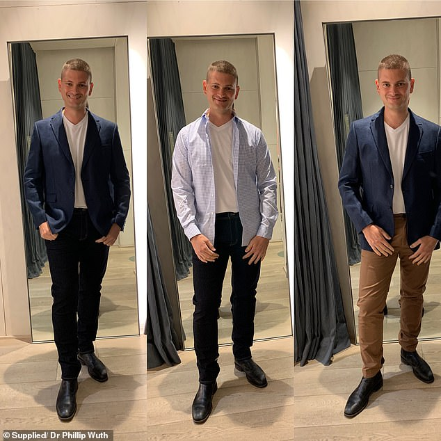 AFTER:Today, Dr Wuth has dropped to 91.9kg, cut down his metabolic age from 50 years to 43 years and got rid of 2.4 per cent of unhealthy body fat (pictured)