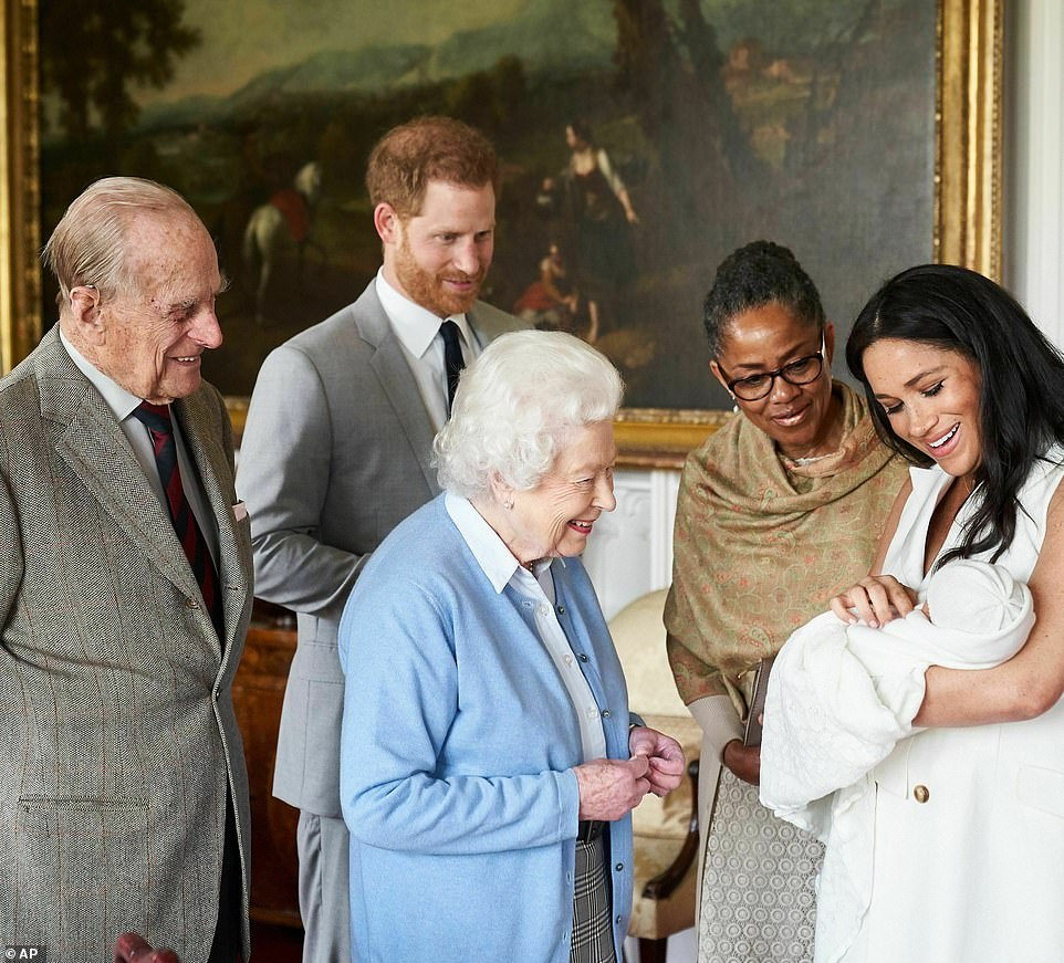 Prince Harry and Meghan Markle, who is joined by her mother Doria Ragland, show their new son Archie to the Queen and Prince Philip at Windsor Castle