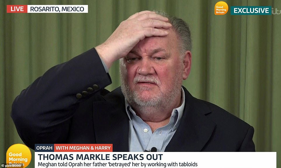 Thomas Markle has had his say on Meghan and Harry's Oprah interview to defend himself and the Royal Family, who he says aren't racist