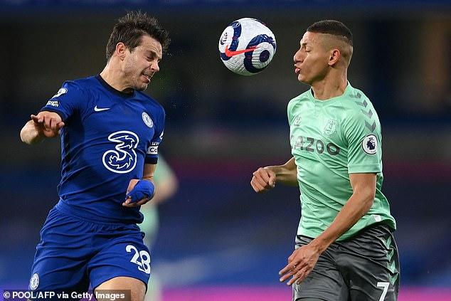 It wasn't Richarlison's (right) night against Chelsea as his four-match scoring run ended