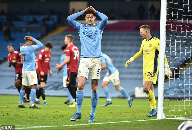 It was a derby to forget for City and John Stones, who has been excellent all season