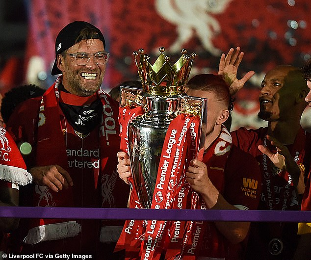 Klopp is considered a Liverpool legend by fans after winning their first Premier League title