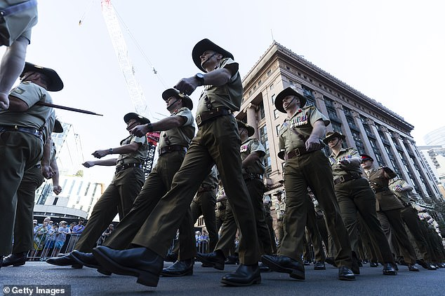 The numbers cap for Sydney's Anzac Day march on April 25 has been bumped from 500 to 5000 people, with up to 10,000 spectators (pictured, the event in 2019)