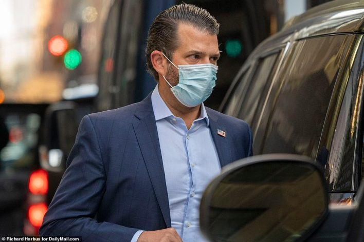 Don Jr. had accompanied his father in New York City while the rest of the family remained in Florida