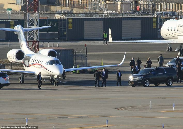 The former president's motorcade left Trump Tower on Tuesday afternoon and made the short journey to LaGuardia airport