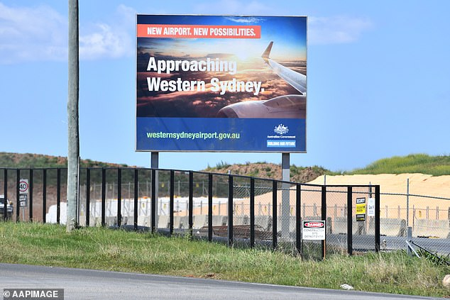 Police have closed an investigation into why the Federal Government bought land near western Sydney Airport (pictured) for 10 times its value