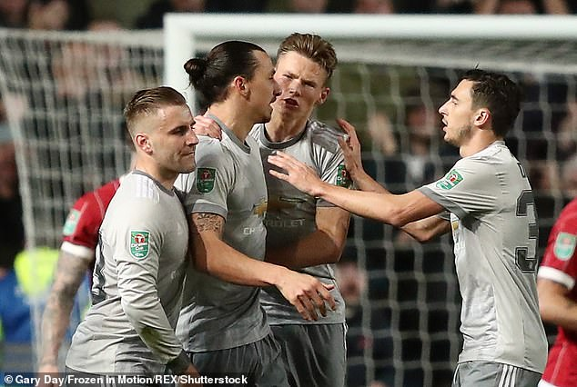 Zlatan Ibrahimovic (second left) is 'ruthless', former team-mate Scott McTominay (centre) says