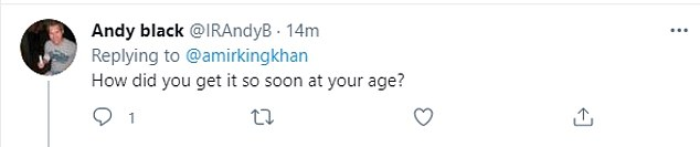 Hundreds of people were quick to ask on social media how Khan managed to get the vaccination early