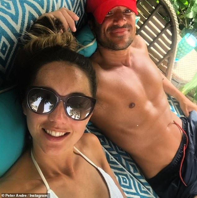 Smitten: The couple have been married since 2015 and the singer, 48, also shared this sweet snap with his doctor wife, 31, earlier this month