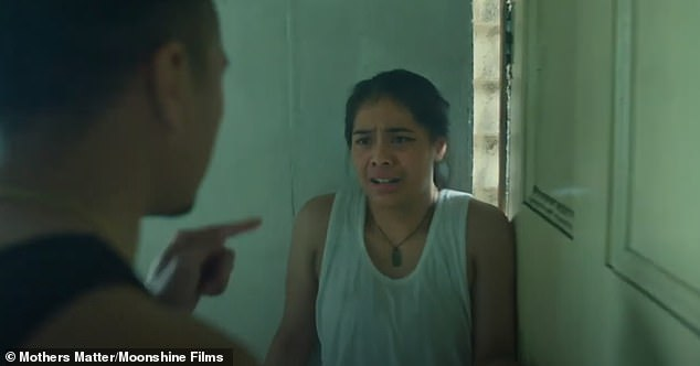 The three minute short film showed a woman locked in a violent relationship who later struggles with her pregnancy