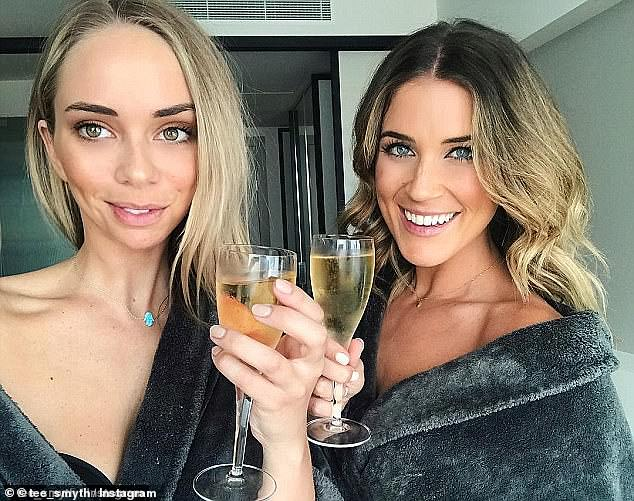 No more cheers? A source close to the two women said Tully was 'fuming' over the snub, and had refused to publicly congratulate Georgia