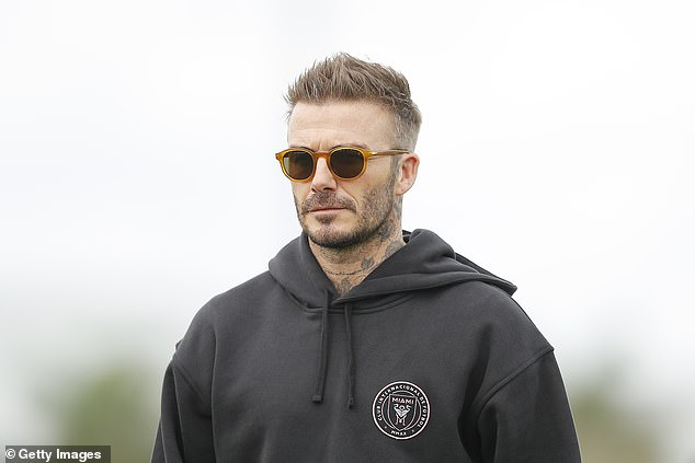 It is understood Murtough held talks with David Beckham (pictured) and Inter Miami in MLS