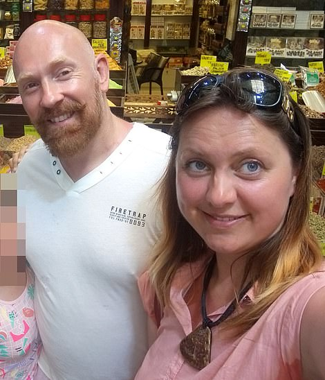 The force arrested one of its own officers, Wayne Couzens, on suspicion of murder, pictured left and right with his wife Elena