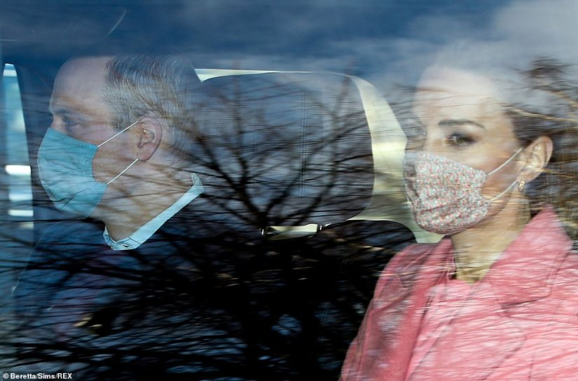 The couple - seen in a car in London today - are said to be deeply upset by the way they were attacked by the Sussexes, with Meghan accusing Kate of making her cry during a bridesmaid dress fitting ahead of the royal wedding