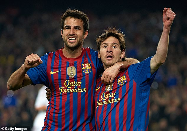 Fabregas and Messi enjoyed three successful years at Barca - winning four major trophies