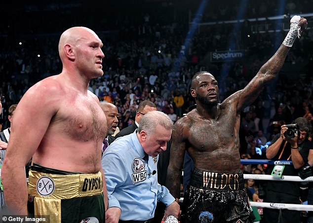 Fury (left) claims Deontay Wilder (right) - who he beat in February - could be his next challenge