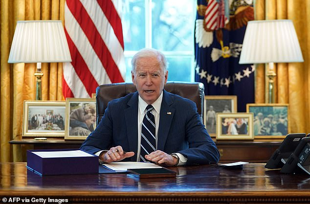 President Biden said the American Rescue Plan will give Americans a 'fighting chance'