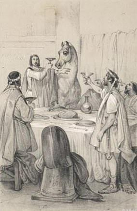 Pictured: Caligula and his horse,Incitatus
