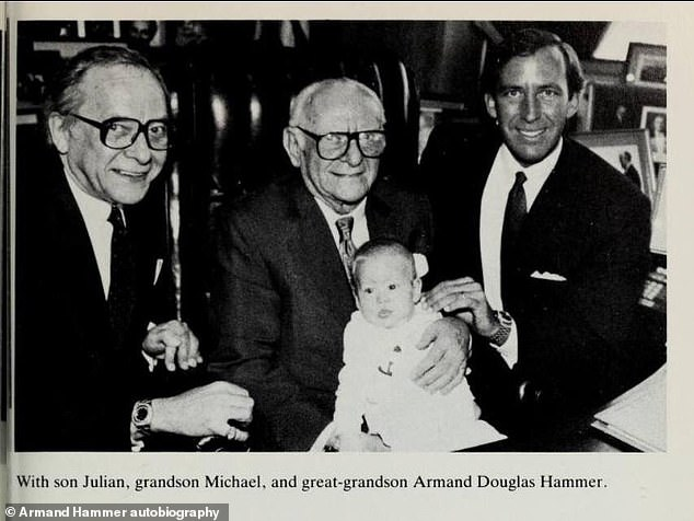 Julian also killed a man in the 1950s: Casey's father Julian (L) - whom she accused of sexually abusing her and other family members - only inherited only $250K of the dynasty's reported $180M fortune