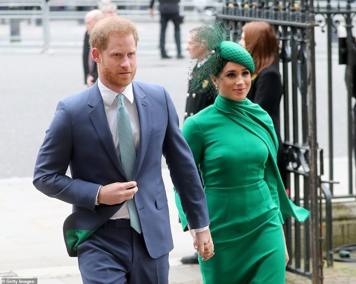 Meghan told Oprah she entered the royal fold intending to devote her life to service but later in the interview, the couple were asked whether the Queen had been 'blindsided' by their January 2020 decision to quit