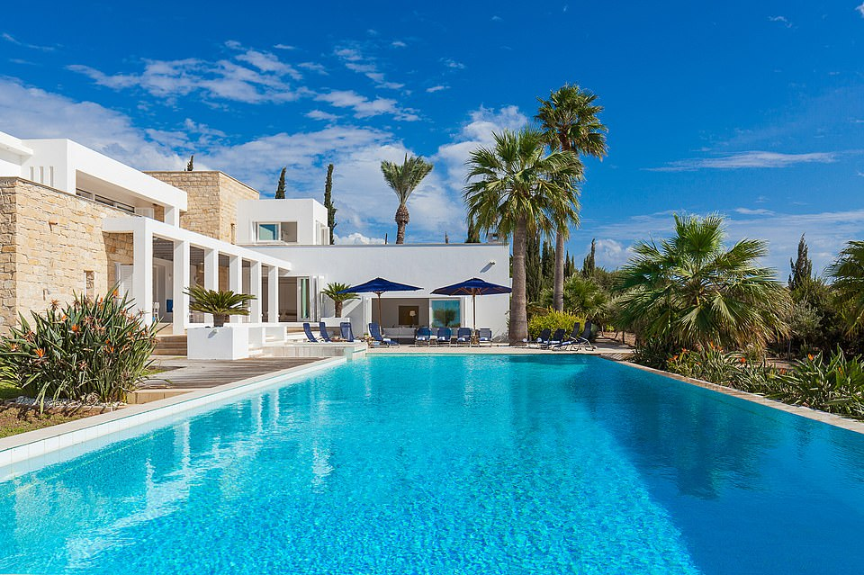 Frank Tiebosch, the director of Cyprus Villa Retreats, says Villa Azure is the most amazing place he has seen on the island during seven years of business