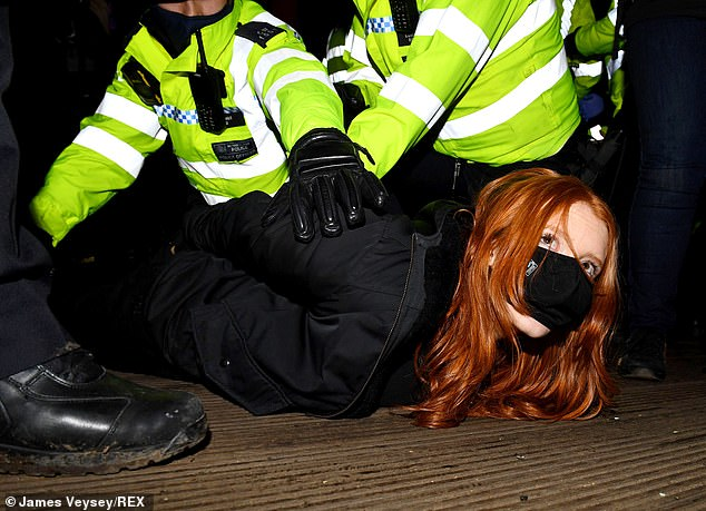 Patsy Stevenson, who went viral after she was pictured being held on the ground by officers,