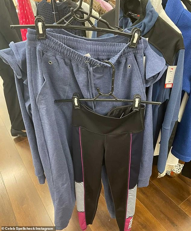 Hers? Earlier this month, Instagram account Celeb Spellcheck claimed part of a loungewear set from Royale By Lorinska appeared at a Melbourne charity shop just two days after Bec had posed in identical items on social media