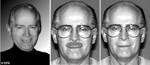 Bulger (pictured in an undated FBI handout photo) had been convicted in 2013 of killing at least 11 people and was serving a life sentence