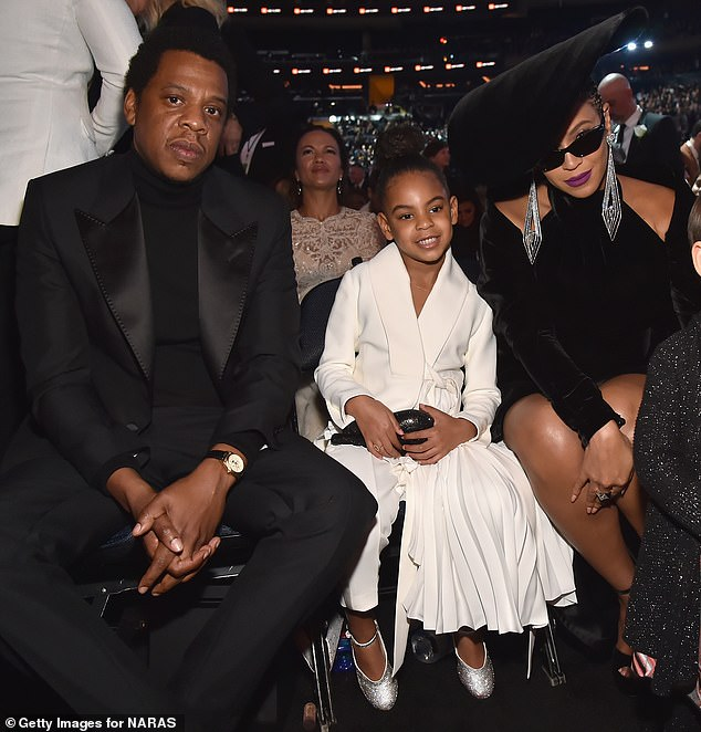 Famous parents: In addition to another daughter and a young son, Beyonce shares Blue Ivy with her husband Jay-Z; the three are seen at the60th Annual GRAMMY Awards in 2018