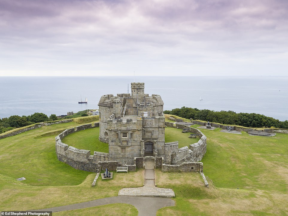 Pendennis Castle, pictured, is on a headland overlooking Cornwall's dramatic Falmouth peninsula