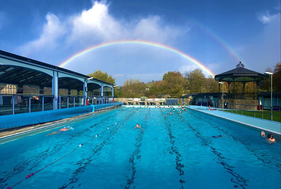 The 30m Hathersage open-air swimming pool in the Peak District, which dates back to 1936