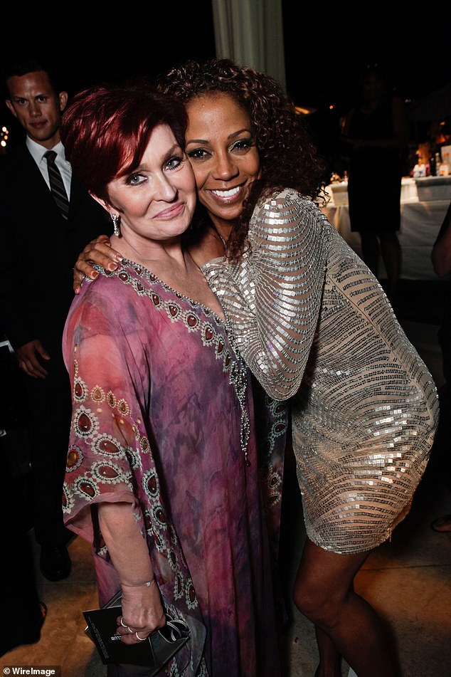 Osbourne, left, and Holly Robinson Peete, right, pictured in 2011.Osbourne has denied calling Holly Robinson Peete 'too ghetto' for The Talk, saying she 'never uttered those words' after CBS launched a probe into her bust up with Sheryl Underwood over Piers Morgan