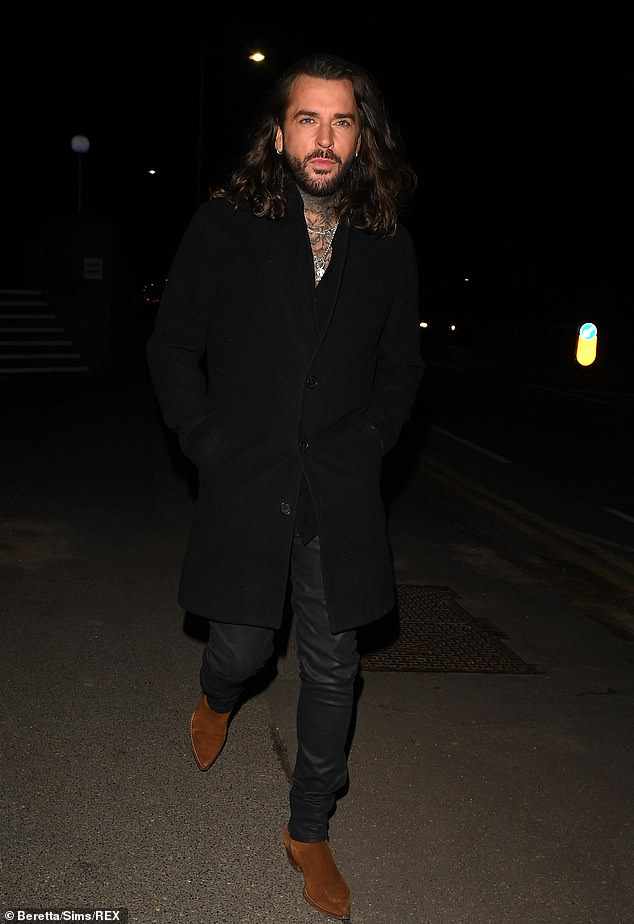Suave: Pete Wicks, who was seen enjoying a date with Ella during Sunday's launch show, was also seen arriving to film his date with Ella