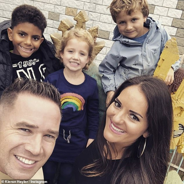 Lovely: The couple revealed that the children are 'so excited' and 'can't wait' for the new arrival which will 'bring the two families together and cement them forever'
