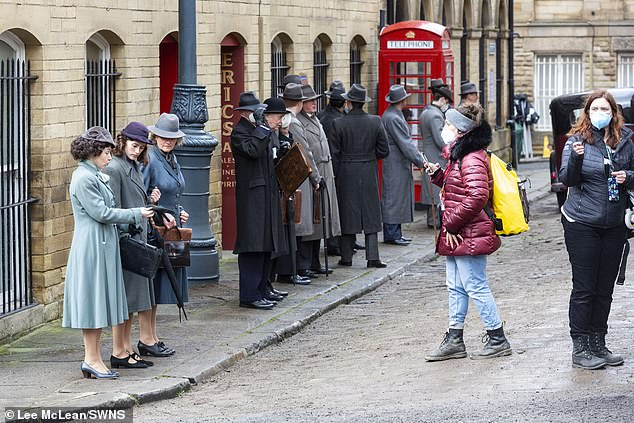 Transformed: For the scenes the city of Bradford was transformed into 1930s Glasgow as vet Herriot returned to his hometown in Scotland