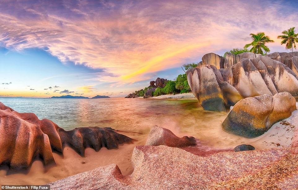 Admiring the pink rocks of the Seychelles comes third on the post-lockdown to-do list for Britons
